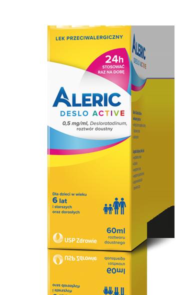 Aleric Deslo Active lek na alergię, roztwór doustny dla dzieci i dorosłych