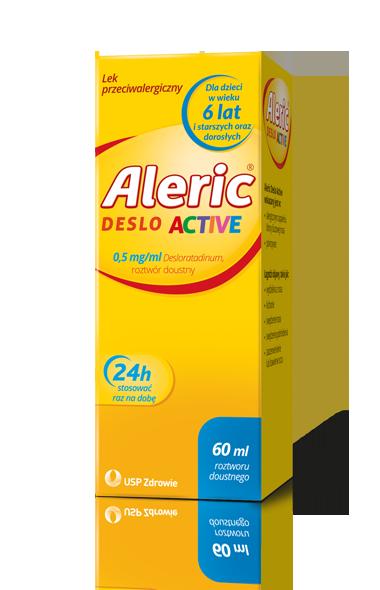 Aleric Deslo Active lek na alergię dla dzieci, starszych i dorosłych, roztwór doustny