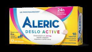 Aleric Deslo Active - tabletki na alergię, lek przeciwalergiczny