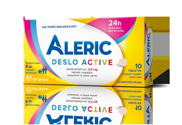 Aleric Deslo Active tabletki na alergię dla dzieci, starszych i dorosłych