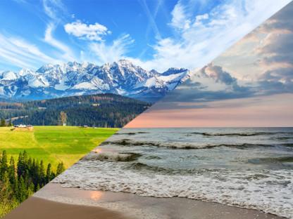 Przełamany krajobraz góry i morze. Wakacje z alergikiem, Aleric spray.